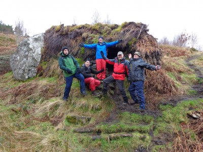 Members of the Men's group at Sheiling near Loch Lomond