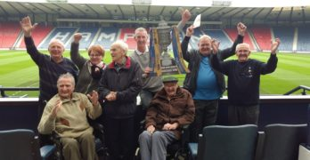 Linwood Football Memories group visits Hampden