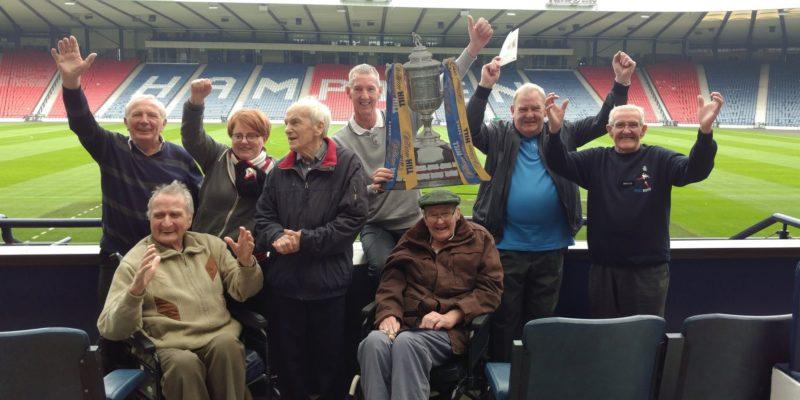 Linwood Football Memories group visits Hampden